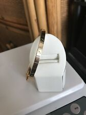 "14KT Solid Yellow Gold Bangle Bracelet With Design x = 7 grams size 7 1/2"" 4.8mm"