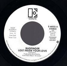 "Beatles (Badfinger) ""Inside Your Love"" 1979 US Elektra Mono/Stereo Promo Copy 45"