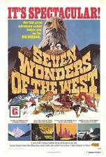 SEVEN WONDERS OF THE WEST Movie POSTER 27x40