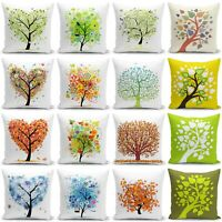 "18"" Tree Printing Short Plush Throw Pillow Case  Home Decor Sofa Cushion Cover"