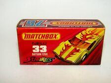 """Matchbox Superfast No 33 Datsun 126X Streakers Empty """"J"""" Box Mint"""