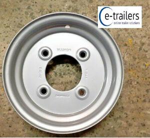 "VLUKON 10"" Trailer Wheel Rim 3.50x10 4 Stud 5.5"" PCD Fits 145x10 500x10 tyres"