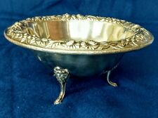 STERLING SILVER ANTIQUE Repousse Sauce Bowl S. Kirk & Sons 1900's Beautiful