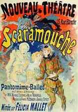 A4 photo CHERET, Jules les affiches illustrees 1896, Scaramouche imprimé Poster