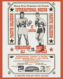 Muhammad Ali - George Chuvalo  -  Wall Art Fight Poster, 8x10 Photo