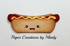 Craftecafe Mindy Kawaii Food Hot Dog premade paper piece scrapbook die cut