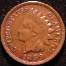 US COIN - 1899 Indian Head Cent / (pick Quarter S.1 box )