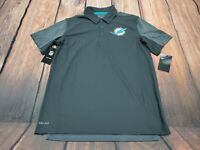 NEW NWT Miami Dolphins Nike Dri Fit Men's Team Issue Polo Shirt Size M