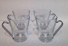 Bormioli Rocco Verdi Retro Clear glass Cappuccino espresso Cups Set of 4