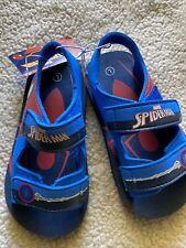 Spiderman Sandals Shoes Boys Size 7 Blue