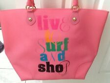 JUICY COUTURE JELLY BEACH BAG LIVE TO SURF AND SHOP