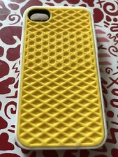 Iphone 4/4s Vans Rubber Waffle Phone Case Yellow And White, Brand New
