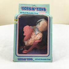 Vintage Uneeda Tots N Toys Baby Girl Doll In Box Vinyl Nos Mid century