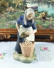 "Rare Large Royal Copenhagen # 1549 "" Woman collecting patatoes "" Figurine"