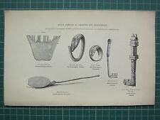 1849 stampa ~ Roman rimane ickleton & chesterford gioielli oro Anello Bronzo Spoon