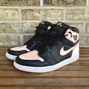 Nike Air Jordan 1 Retro High OG Crimson Tint Black Size 9.5 555088-081 Pink