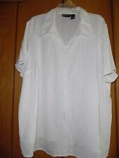 WOMENS MAGGIE BARNES OFF OF WHITE TOP SHIRT BLOUSE SZ 3X