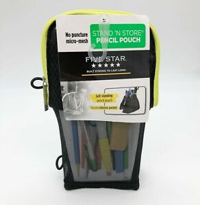 ✏️ Mead Five Star Stand N Store Pencil Pouch Case Fits 3-Ring Binder NEW H3