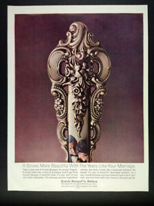 1968 Wallace Sterling Silver Grande Baroque vintage print Ad