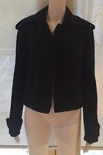Military Style Balenciaga Black Wool Coat Size 38