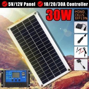 Top solar 30W 12V Solar Panel kit Dual USB Output Solar Cells Battery Charger
