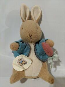 "Beatrix Potter Peter Rabbit 9"" Plush Stuffed Animal Bunny Toy Eden w tags"