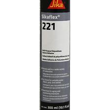 Sikaflex-221, Adhesive and Sealant, 10.1 fl. oz Cartridge, Black