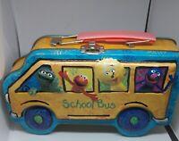 sesame street bus tin lunch box 2002 A38