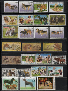 """s3606)  WORLD ANIMAL STAMPS MIXTURE  """"DOGS"""""""