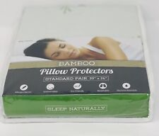 Premium Bamboo Pillow Cover Protectors Soft Standard Size Zippered Pillow Cover