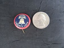 Original 1918 WW1 WWI Third Liberty Loan Pinback