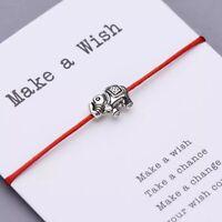 ZARD Good Luck Elephant Charm Red String Protection Friendship Bracelet