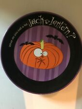 "Halloween Dept 56 Pumpkin JackOlantern Plate 8.5"" Collector Decor Dish"