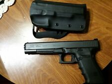 fits glock g40 mos kydex paddle  holster black