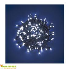 luci luminarie natale 240 led reflex luce bianca batteria controller 8 giochi