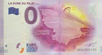 BILLET 0  EURO LA DUNE DU PILAT FRANCE 2017 NUMERO 100