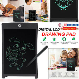 """8.5"""" DIGITAL DRAWING ELECTRONIC WRITING TABLET LCD PAD GRAPHICS NOTEPAD FOR KIDS"""