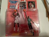 Hakeem Olajuwon Bill Russell 1997 Starting Lineup Classic Doubles Figures New