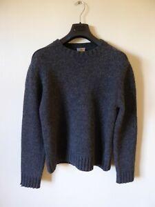 Carhartt Dark Grey Charcoal Pure Shetland Wool Jumper – Size Medium