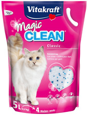 5 X Vitakraft Magic Clean Cat Litter - Silicone 5ltr Out of Date Damaged Bag