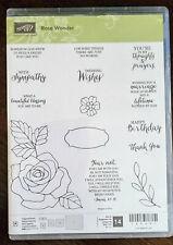 Stampin' Up! Rose Wonder Stamps & Rose Garden Dies. Barely Used.