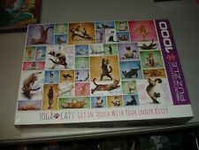 Yoga Cats Eurographics 1000 Piece Jigsaw Puzzle - Brand New, Sealed