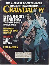 CRAWDADDY Magazine September 1977 Barry Manilow Heart Eric Carmen