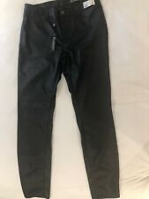 Black NYC Black Leather Jeans Womens Size 30 NWT