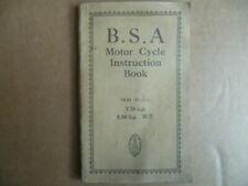 Manuel d'instruction B.S.A Motor Cycle Instruction Book 7.70 et 9.86 h.p de 1931
