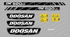DOOSAN DX520LC DIGGER DECAL STICKER SET