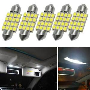 5 X 36MM 16SMD Car Interior Festoon Dome LED Vehicle Light White 6411 6418 12V