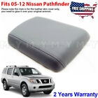 Fits 2005-2012 Nissan Pathfinder Leather Center Console Lid Armrest Cover Gray