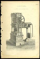 Impression antique Hydrostatique De Presse coton Botteleuse Cuivre Plaque Gravure
