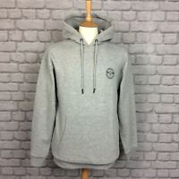 CREATIVE RECREATION MENS UK L GREY GLOSS PRINT HOODY HOODIE HOODED TOP RRP £69
